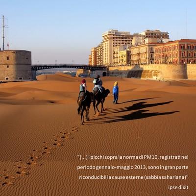 le polveri sahariane in una visione dell'architetto fiorella occhinegro