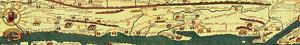 Nel medioevo, il toponimo Terra Laboris, registrato per la prima volta nel 1092 (anche se ci sono dubbi sull'originalità del documento), venne a sostituire il nome Campania[2]. Il nuovo toponimo sostituirà ufficialmente l'antico nella suddivisione territoriale normanna. Dal VII secolo infatti, a causa del prevalere del Ducato di Napoli, venne meno nel linguaggio il collegamento tra il toponimo latino Campania e ciò che esso indicava originariamente: in maniera emblematica le carte geografiche, d