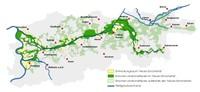 Mappa del bacino della Ruhr
