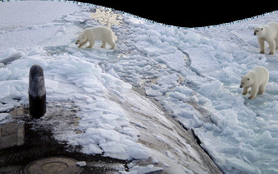 Circolo Polare Artico. Il ghiaccio si sta riducendo (foto Greenpeace)
