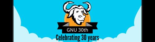 Logo per il trentennale del progetto GNU