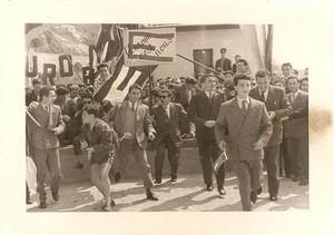 Manifestazione federalista al Ponte San Luigi, Ventimiglia 1954