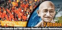 2 ottobre, Giornata Internazionale della Nonviolenza: aderite scattando una foto