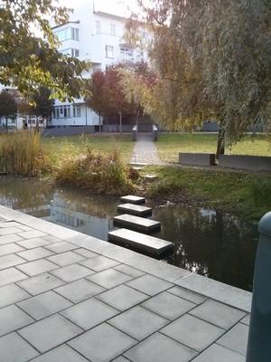 Particolare di un canale di Hammarby Sjostad