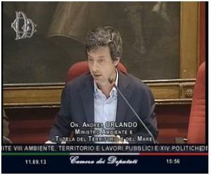 Audizione del Ministro per l'Ambiente Orlando sulle procedure d'infrazione