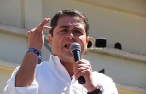 Juan Orlando Hernández (Foto G. Trucchi)
