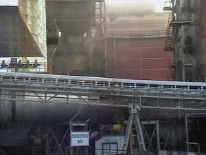 Reparto agglomerato (elettrofiltri) Fumi non convogliati di uno dei forni dove avviene la sinterizzazione del minerale.