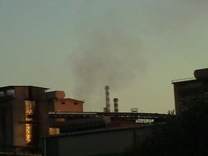 Reparto agglomerato (elettrofiltri) Fumi convogliati di uno dei forni dove avviene la sinterizzazione del minerale.