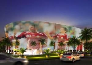 Il progetto di uno stadio in Quatar per i Mondiali di calcio del 2022