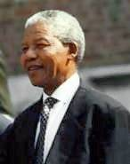 Nelson Mandela at the Independence Hall in Philadelphia, PA, July 4 1993.