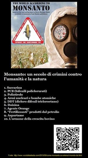 Monsanto: un secolo di crimini contro l'umanità e la natura
