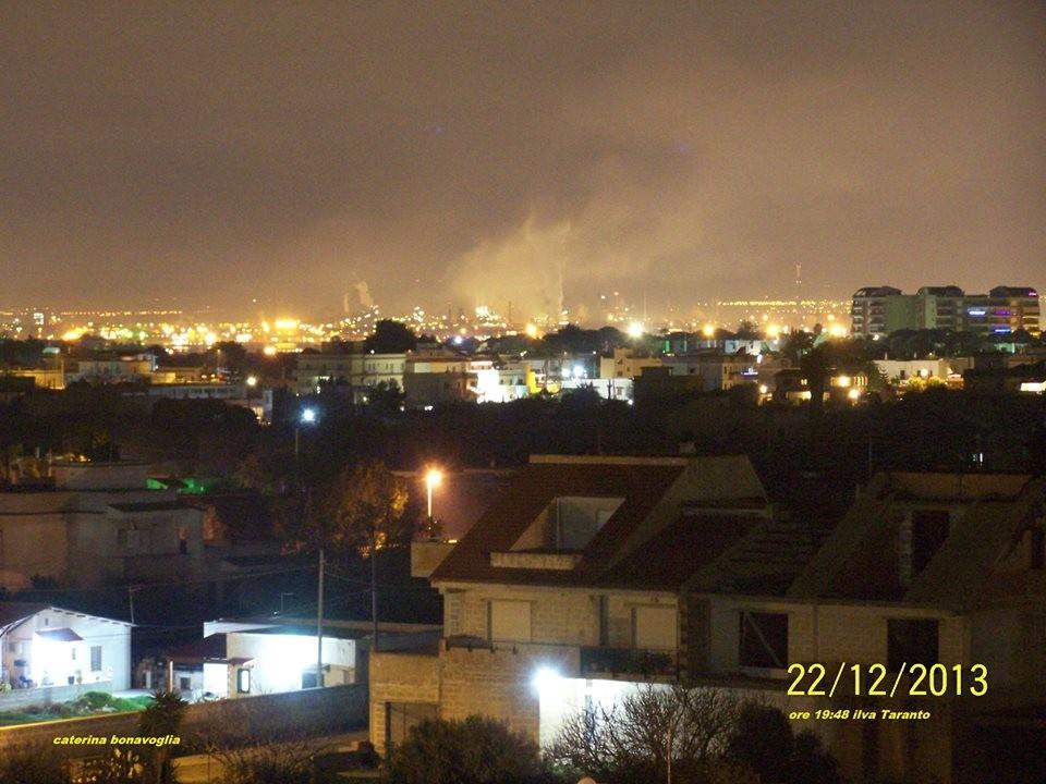 inquinanti sulla città di taranto