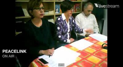 battaglia, gravame e marescotti durante la conferenza stampa del 2 gennaio 2014