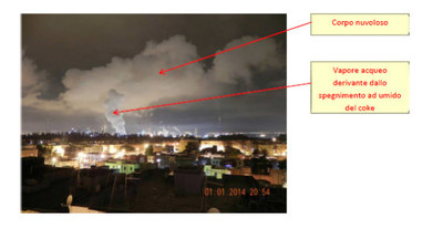 """foto con """"descrizione"""" utilizzata da ilva nella la nota del 3 gennaio 2014"""