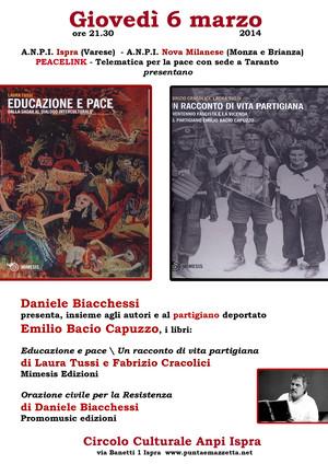 """ANPI ISPRA, ANPI NOVA MILANESE """"Per Non Dimenticare"""" e PeaceLink - Telematica per la Pace, con sede a Taranto"""