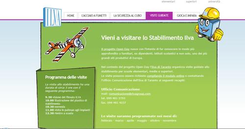 Immagine tratta dal sito che promuove le visite delle scuole all'Ilva