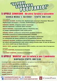 Il convegno del 5 aprile a Statte
