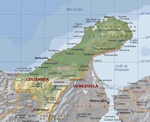 Mapa de Guajira