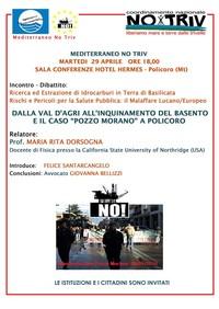 Maria Rita D'Orsogna, oggi a a Taranto, domani a Policoro
