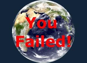 You failed!: hai fallito! - Messaggio che appare a video quando non si supera un livello di un videogioco