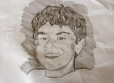 un ritratto a matita di Alessandro Rebuzzi