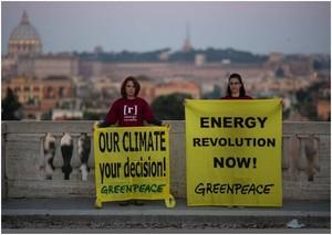 """Roma, 6 maggio 2014. Greenpeace: """"Solo con l'efficienza e le rinnovabili si può raggiungere l'indipendenza e la sicurezza energetica"""""""