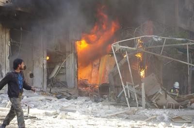 bombardamento a Aleppo