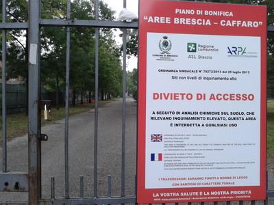 Brescia. Divieto assoluto di accesso (foto l.giannotti)