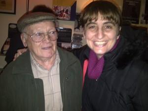 Con il Partigiano Emilio Bacio Capuzzo