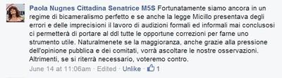 Dichiarazioni della Senatrice Paola Nugnes