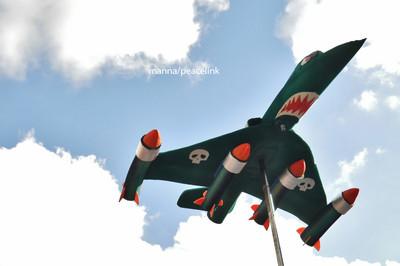 un modello di aereo in una manifestazione