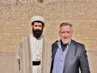 Con Baba Chawesh Ismael Hasan, guida spirituale dei Yazidi