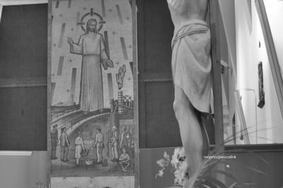 una chiesa del quartiere Tamburi di Taranto