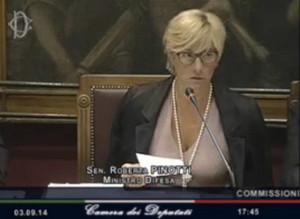 Ministro Pinotti riferisce in Parlameto