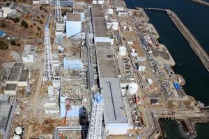 Veduta aerea della centrale di Fukushima, datata 24 marzo 2011, qualche giorno dopo la sua distruzione causata da uno tsunami