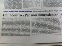 """Il Settimanale Settegiorni presenta l'evento """"Per Non Dimenticare"""" - Pero (Milano), 16 ottobre 2014"""