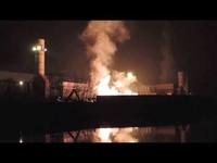 Fumo dall'acciaieria Arvedi di Cremona