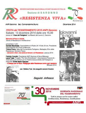 Incontro in occasione della Festa del Tesseramento 2015, ANPI Saronno e del Settantesimo Anniversario della Liberazione
