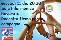 A Rovereto parte la raccolta firme 'Un'altra difesa è possibile'