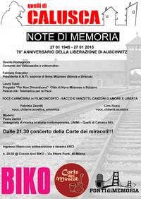 Note di Memoria, Milano 27 Gennaio (1945-2015)