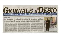 Il Giornale di Desio sul Porrajmos