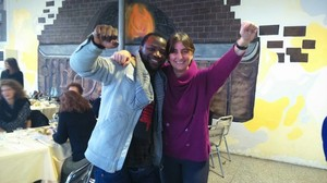 Con il Fratello KISS dal Congo, con lo stesso nome del nostro Partigiano BACIO