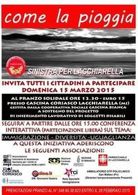 COME LA PIOGGIA-Conferenza Interattiva sul tema: Immigrazione - Diversità - Uguaglianza