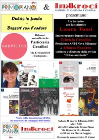 Caffé Letterario Primo Piano e Inkroci Mensile di Cultura e Cinema presentano i Libri di Fabrizio Cracolici, Alfonso Navarra, Laura Tussi