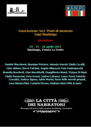 La Città dei Narratori- Sinalunga (Siena) 2015