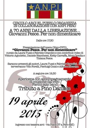 Domenica 19 Aprile 2015 ore 17.30 a Pero (Milano)