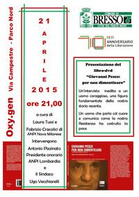 """BRESSO - Presentazione Dvd/Libro """"Giovanni Pesce: Per non dimenticare"""", MIMESIS 2015"""