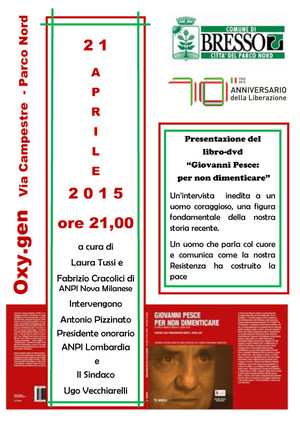 Presentazione a Bresso - Città del Parco Nord (Milano)