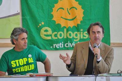 Marano e Bonelli in conferenza stampa a Milazzo