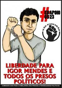 Brasile: Igor Mendes e gli altri. Prigionieri politici per aver manifestato contro la Coppa del mondo